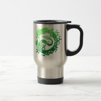 Tribal dragon travel mug