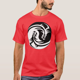 Tribal Dragon Yin Yang T-shirt