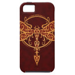 Tribal Dragonfly, Golden Red iPhone 5 Cover