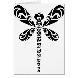 Tribal Dragonfly Tattoo Cards