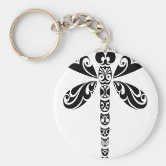 Tribal Dragonfly Tattoo Keychain