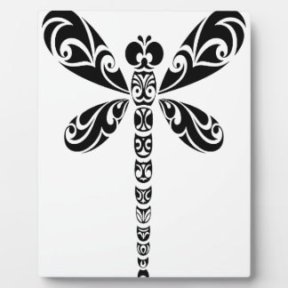 Tribal Dragonfly Tattoo Plaque