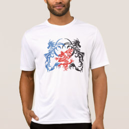 Tribal Dragons Black/Red/Blue T-Shirt