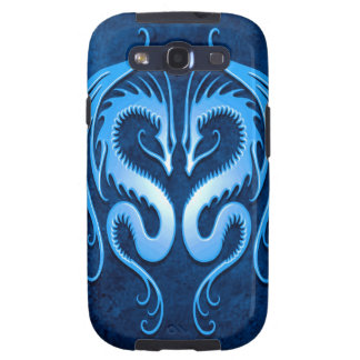 Tribal Dragons, blue Galaxy S3 Cases