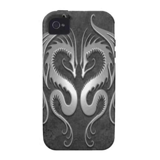 Tribal Dragons, dark Vibe iPhone 4 Case