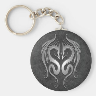 Tribal Dragons, dark Keychain