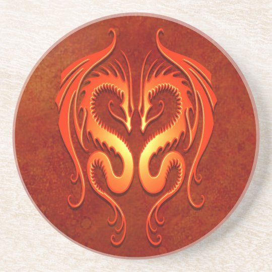 Tribal Dragons, red Coaster