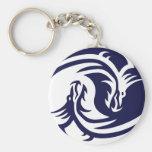 Tribal Dragons Yin Yang (Customizable) Key Chain