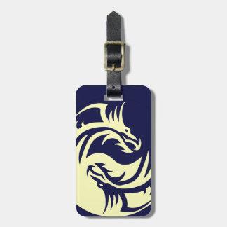 Tribal Dragons Yin Yang (Customizable) Luggage Tag