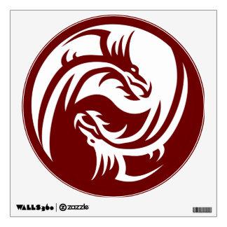 Tribal Dragons Yin Yang (Customizable) Wall Decal