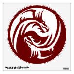 Tribal Dragons Yin Yang (Customizable) Wall Graphic