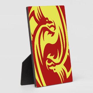 Tribal Dragons Yin Yang Customize it Plaque