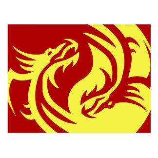 Tribal Dragons Yin Yang (Customize it!) Postcard