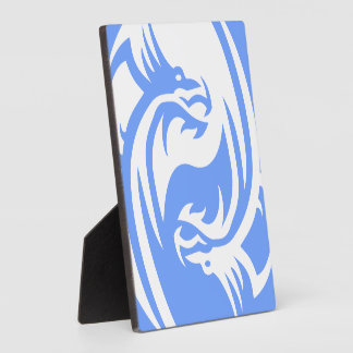 Tribal Dragons Yin Yang Personalize It Display Plaque