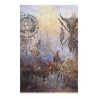 Tribal Dream Stationery Paper