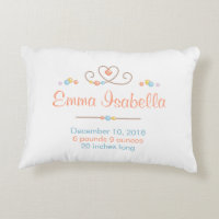 Tribal Dreamcatcher New Baby Name Birth Keepsake Accent Pillow