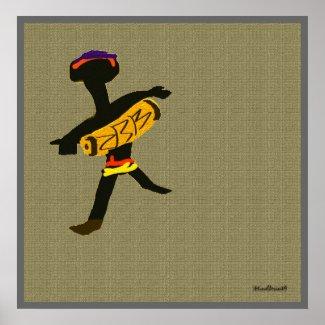 Tribal Drum Poster