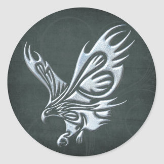 Tribal Eagle Classic Round Sticker