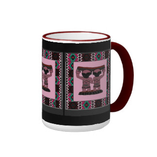 Tribal effigy - Aftrican Art Ringer Coffee Mug