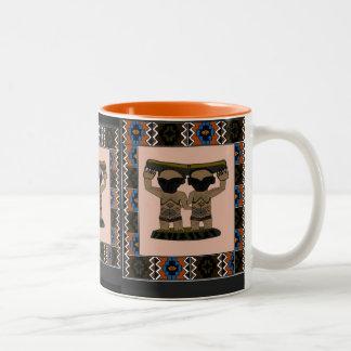 Tribal effigy - Aftrican Art Two-Tone Coffee Mug