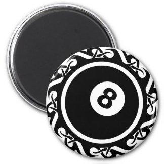 tribal eightball 2 inch round magnet