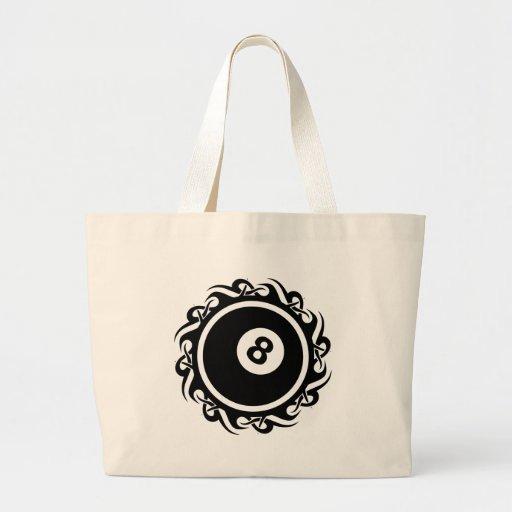 tribal eightball tote bag
