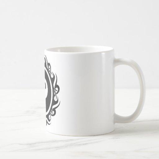 tribal eightball classic white coffee mug