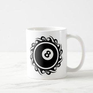 tribal eightball coffee mug