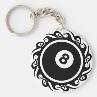 tribal eightball keychain