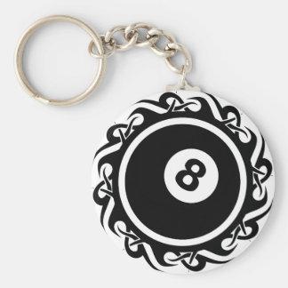 tribal eightball keychain
