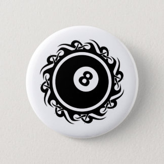 tribal eightball pinback button