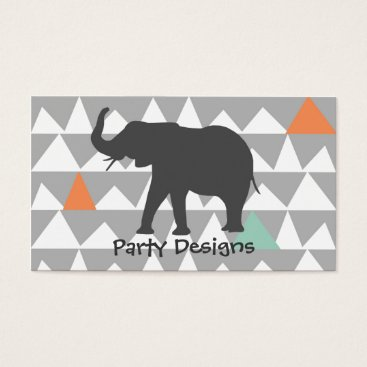 Aztec Themed Tribal Elephant Aztec Andes Pattern Business Card