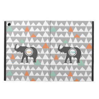 Tribal Elephant Aztec Andes Pattern Monogram Name iPad Air Cover