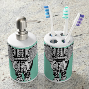 Tribal Elephant Bathroom Set
