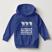 Tribal Elephants ZigZags Aztec Andes Pattern Hoodie