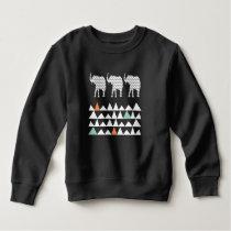 Tribal Elephants ZigZags Aztec Andes Pattern Sweatshirt