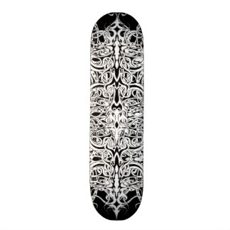 Tribal Empire Tattoo Black and White Skateboard