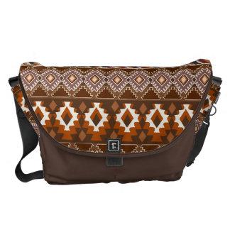 tribal, étnico, modelo bolsas de mensajería