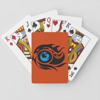 Tribal evil eye playing cards