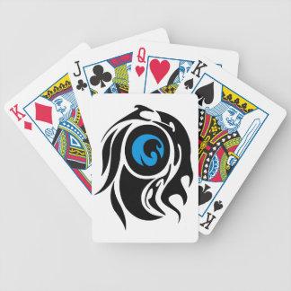 Tribal evil eye poker cards