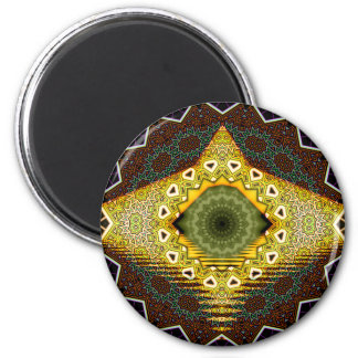 Tribal Eye 2 Inch Round Magnet