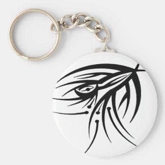 Tribal Eye Tattoo Keychain