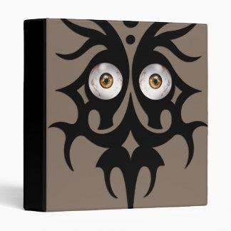 Tribal eyes, brown 3 ring binder