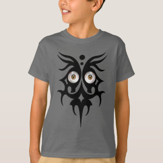 Tribal eyes, brown T-Shirt