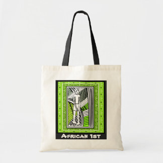 Tribal farmer - Aftrican Art Budget Tote Bag