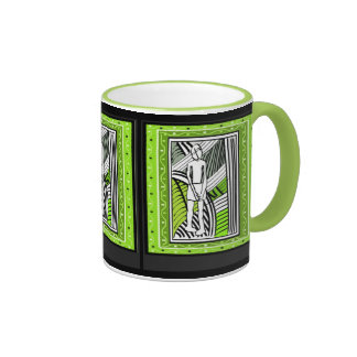 Tribal farmer - Aftrican Art Ringer Coffee Mug