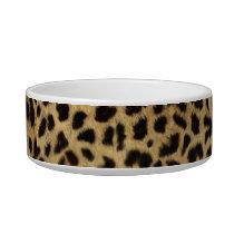 tribal fashionista safari animal leopard print bowl