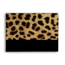 tribal fashionista safari animal leopard print envelope