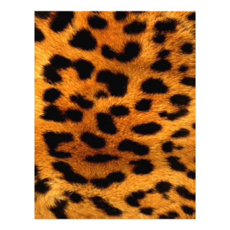 tribal fashionista safari animal leopard print letterhead