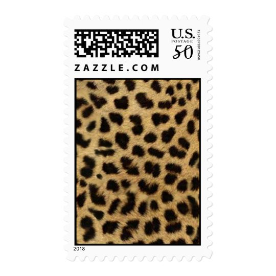 tribal fashionista safari animal leopard print postage